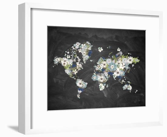 Blooming Map 2-Victoria Brown-Framed Art Print