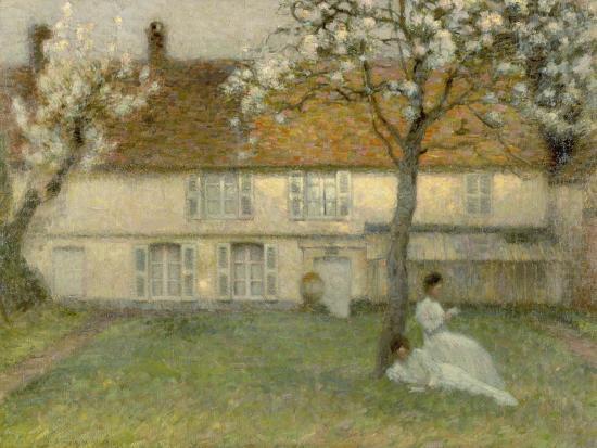 Blooming trees, Gerberoy. 1902-Henri Eugene Augustin Le Sidaner-Giclee Print