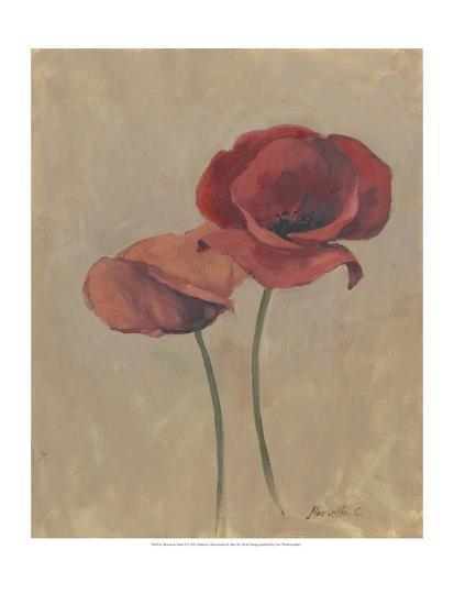 Blooms and Stems II-Marietta Cohen-Art Print