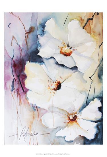Blooms Aquas I-Leticia Herrera-Art Print