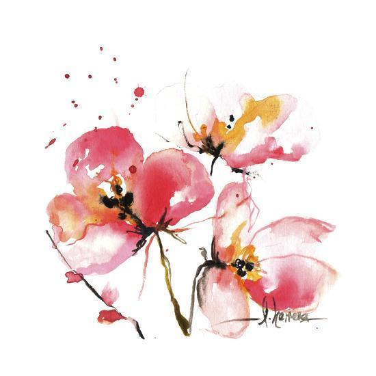 Blooms Hermanas IV-Leticia Herrera-Art Print