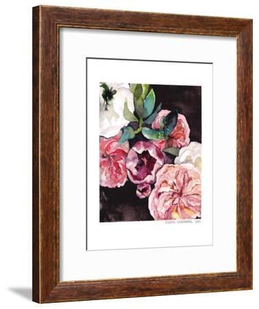 Blooms On Black 4-Claudia Liebenberg-Framed Art Print