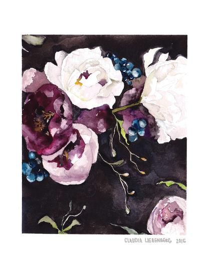 Blooms On Black 5--Art Print