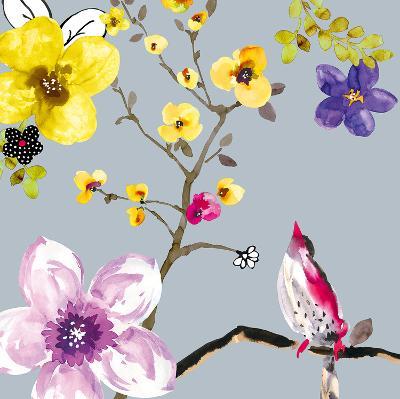 Blossom Birds I-Sandra Jacobs-Art Print