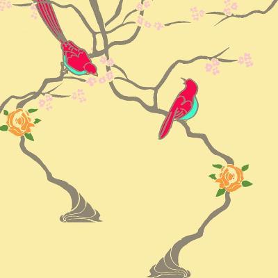 Blossom Birds-Anna Platts-Giclee Print