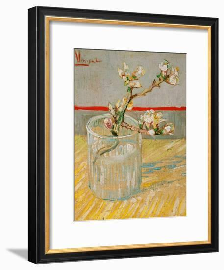 Blossoming Almond Branch in a Glass, c.1888-Vincent van Gogh-Framed Premium Giclee Print
