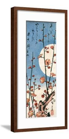 Blossoming Plum Tree with Full Moon-Ando Hiroshige-Framed Giclee Print