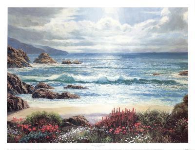Blossoms By The Ocean-Nenad Mirkovich-Art Print