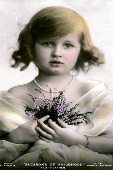 Blossoms of Childhood No.3: Heather, Early 20th Century- J Beagles & Co-Giclee Print