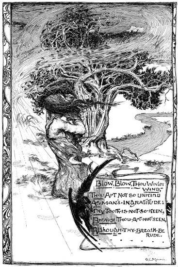 Blow, Blow, Thou Winter Wind, 1895-Giraldo Eduardo Lobo de Moura-Giclee Print