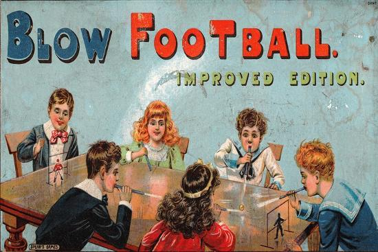 'Blow Football' Table Football Game--Giclee Print