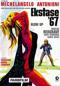 Blow-Up, David Hemmings on German Poster Art, 1966