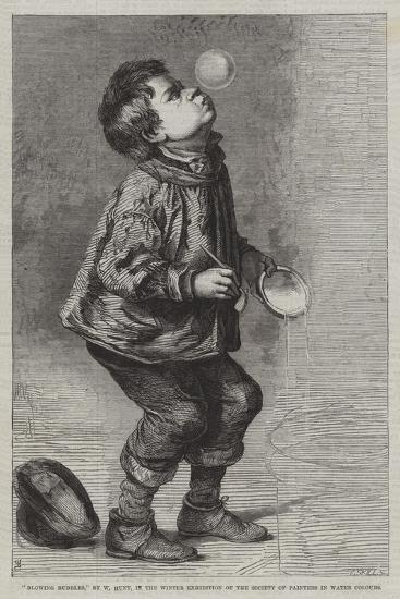 Blowing Bubbles, in the Winter Exhibition of the Society of Painters in Water Colours--Giclee Print