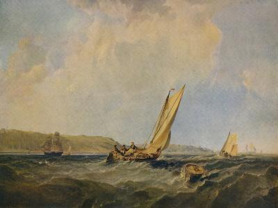 Blowing Hard-Off Cowes, 1834-George Hyde Chambers-Giclee Print