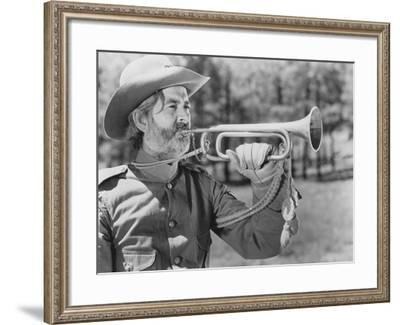 Blowing Reveille--Framed Photo