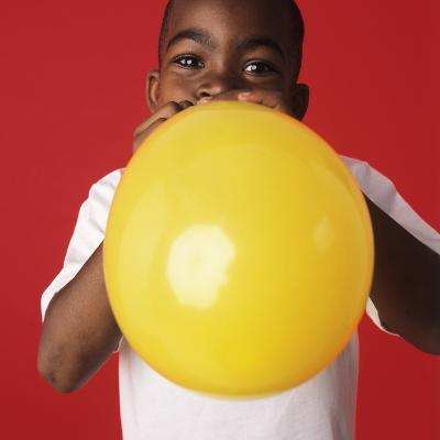 Blowing Up a Balloon-Ian Boddy-Photographic Print