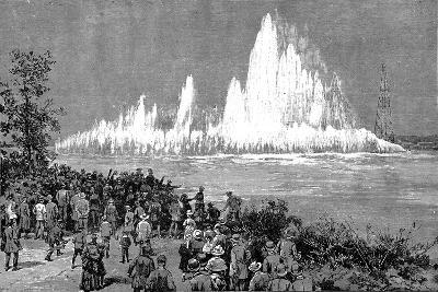 Blowing Up Flood Rock, 1885-C Graham-Giclee Print
