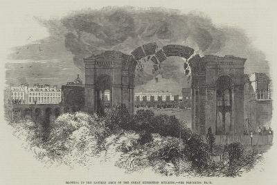 Blowing Up the Eastern Arch of the Great Exhibition Building--Giclee Print
