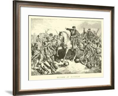 Blucher at Waterloo--Framed Giclee Print