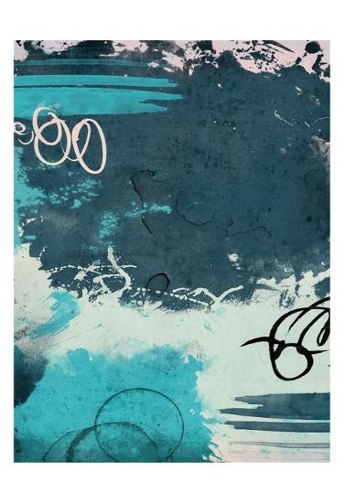 Blue Abstract II-Jace Grey-Art Print