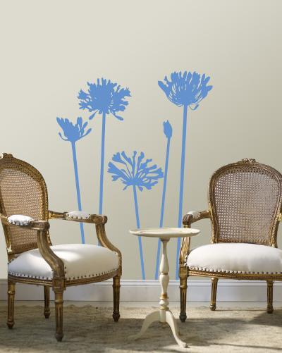 Blue Agapanthus--Wall Decal