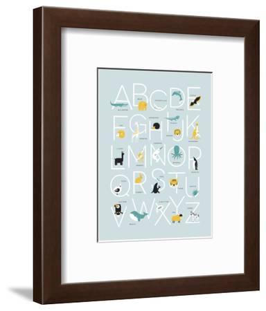 Blue Alphabet-Kindred Sol Collective-Framed Art Print