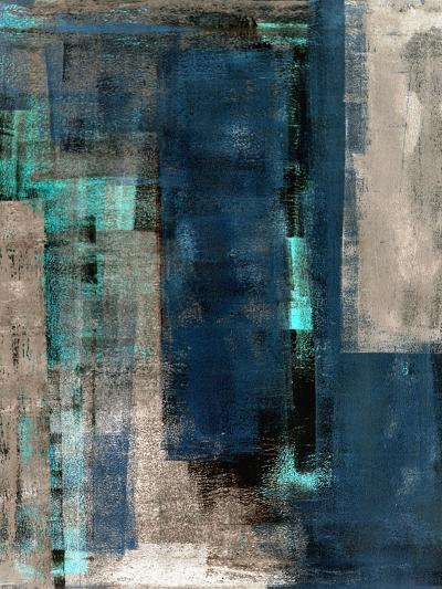 Blue and Beige Abstract Art Painting-T30 Gallery-Art Print