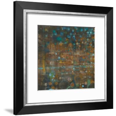 Blue and Bronze Dots IX-Danhui Nai-Framed Art Print