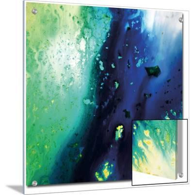 Blue and Green Flowing Abstract, c. 2008-Pier Mahieu-Art on Acrylic