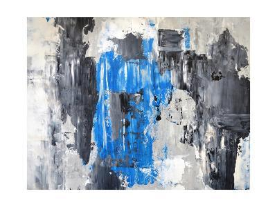 Blue And Grey Abstract Art Painting-T30Gallery-Art Print