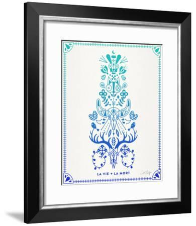 Blue and Ombre La Mort-Cat Coquillette-Framed Giclee Print