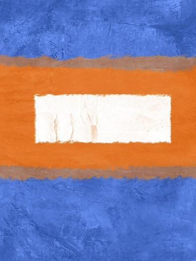 Blue and Orange Abstract Theme 1-NaxArt-Art Print