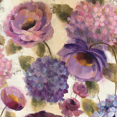 Blue and Purple Flower Song III-Silvia Vassileva-Art Print