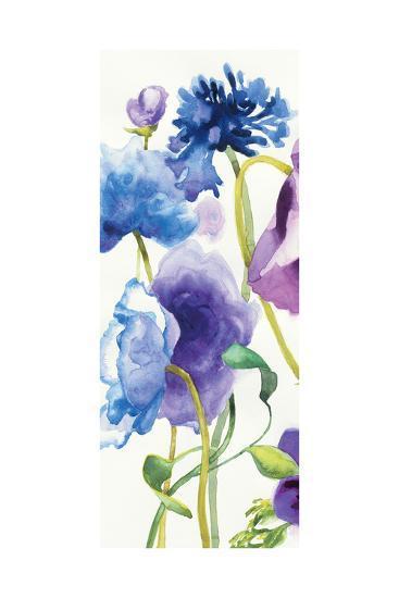 Blue and Purple Mixed Garden I Panel I-Shirley Novak-Art Print