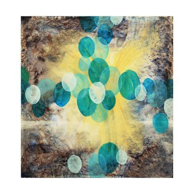 Blue and White Ovals-clivewa-Art Print
