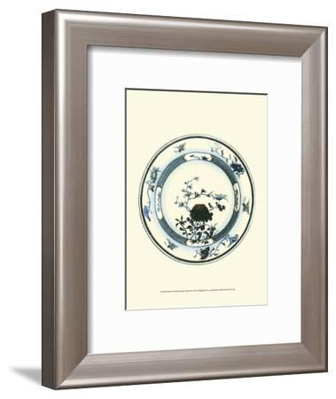 Blue and White Porcelain Plate III--Framed Art Print