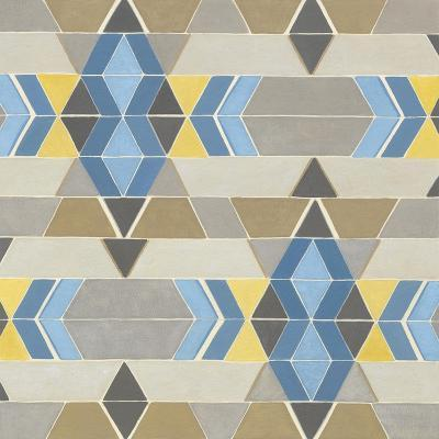 Blue and Yellow Geometry II-Megan Meagher-Art Print