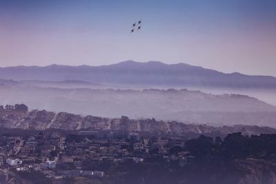Blue Angels Over Sunset Neighborhood District San Francisco-Vincent James-Photographic Print