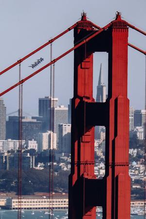Blue Angels Show at Golden Gate Bridge, San Francisco-Vincent James-Photographic Print