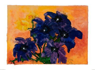 Blue Arrangement-Claude Boher-Art Print