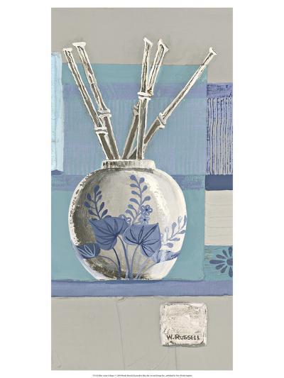 Blue Asian Collage I-Wendy Russell-Art Print