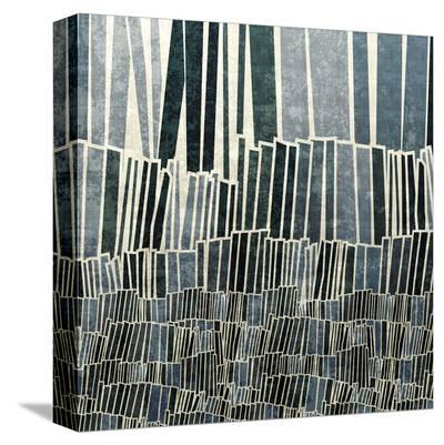 Blue Bamboo-Mali Nave-Stretched Canvas Print