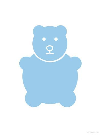 Blue Bear-Avalisa-Art Print