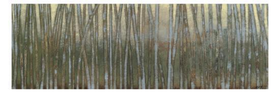 Blue Birch Forest I-Norman Wyatt Jr^-Art Print