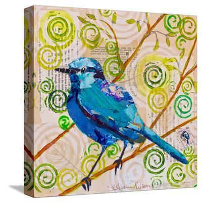 Blue Bird Of Happiness--Stretched Canvas Print
