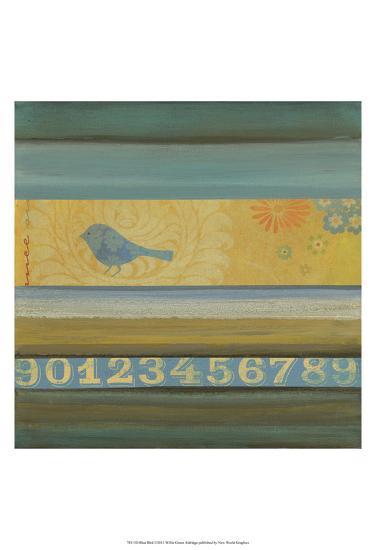 Blue Bird-W^ Green-Aldridge-Art Print