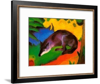 Blue-Black Fox, 1911-Franz Marc-Framed Art Print