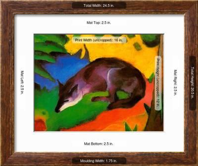 Blue Black Fox 1911 Art Print Franz Marc Art Com