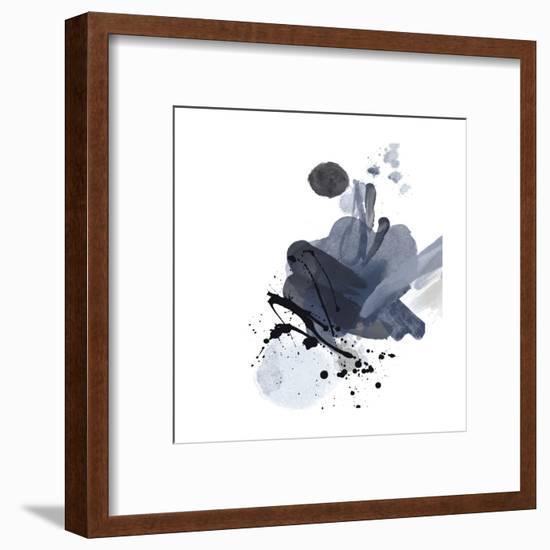Blue & Black Splash I-Irena Orlov-Framed Art Print