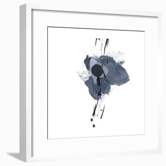 Blue & Black Splash II-Irena Orlov-Framed Art Print